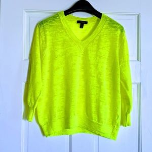 J. Crew Lime Green Light Weight Pullover Sweater